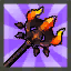 Red Lava Demon Staff